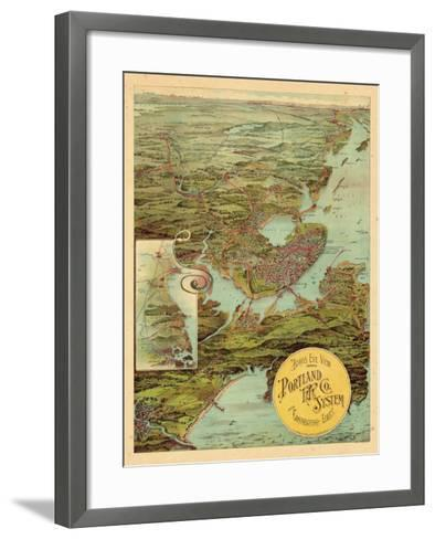 1909, Portland, Maine--Framed Art Print