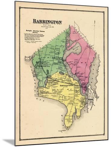 1870, Barrington, Rhode Island, United States--Mounted Giclee Print