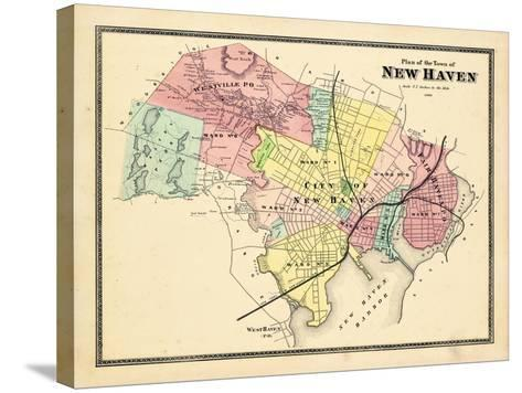 1868, New Haven, Connecticut, United States--Stretched Canvas Print