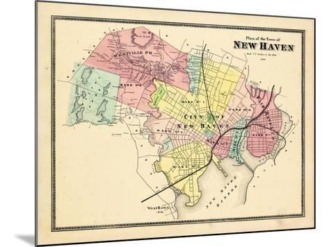 1868, New Haven, Connecticut, United States--Mounted Giclee Print