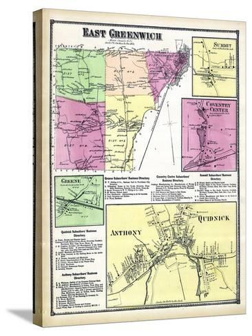 1870, Greenwich East, Sumit, Coventry Center, Greene Anthony, Quidnick, Rhode Island, United States--Stretched Canvas Print