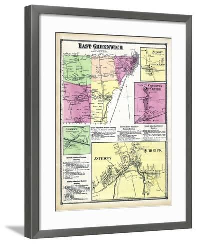 1870, Greenwich East, Sumit, Coventry Center, Greene Anthony, Quidnick, Rhode Island, United States--Framed Art Print