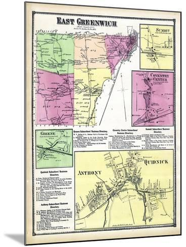1870, Greenwich East, Sumit, Coventry Center, Greene Anthony, Quidnick, Rhode Island, United States--Mounted Giclee Print
