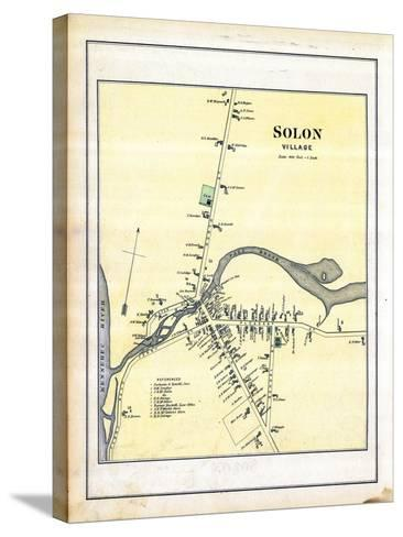 1883, Solon Village, Maine, United States--Stretched Canvas Print