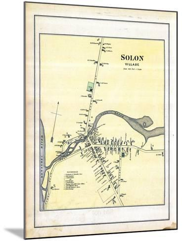1883, Solon Village, Maine, United States--Mounted Giclee Print