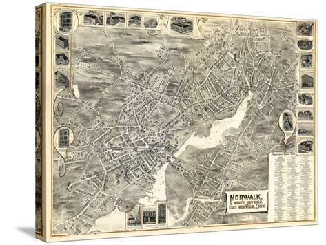 1899, Norwalk, Bird's Eye View, Connecticut, United States--Stretched Canvas Print