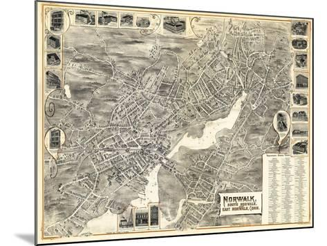 1899, Norwalk, Bird's Eye View, Connecticut, United States--Mounted Giclee Print