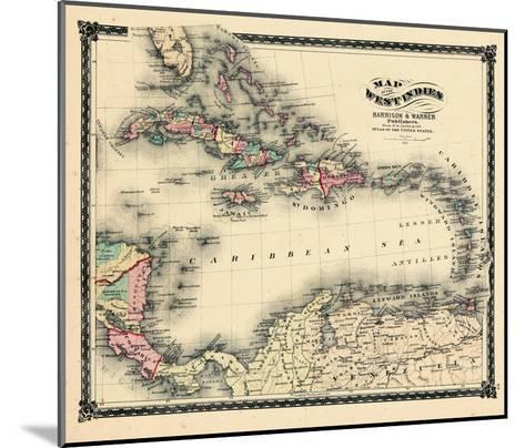 1876, County Map of Florida, West Indies, Caribbean, Mexico, Cuba, South America, United--Mounted Giclee Print