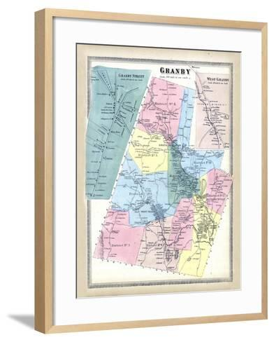 1869, Granby, West Granby Town, Connecticut, United States--Framed Art Print