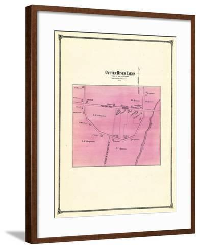 1874, Oyster River Farms, Connecticut, United States--Framed Art Print