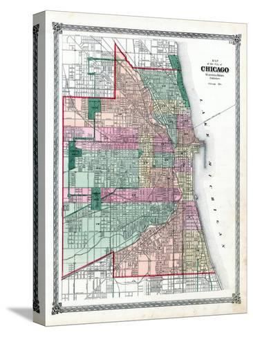 1876, Chicago City, Illinois, United States--Stretched Canvas Print