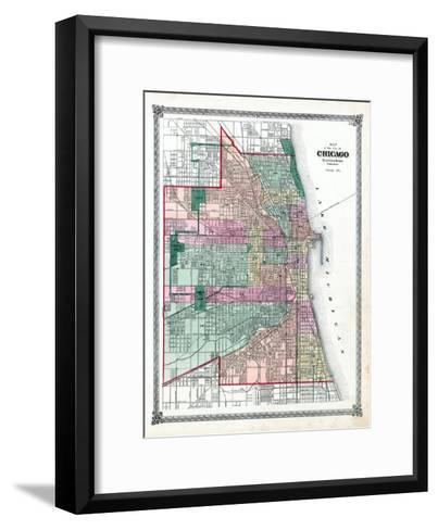 1876, Chicago City, Illinois, United States--Framed Art Print