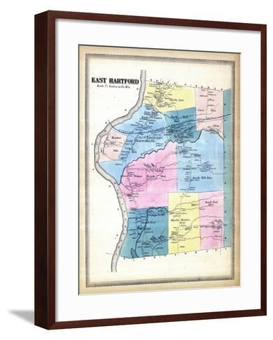 1869, Hartford East, Connecticut, United States--Framed Art Print