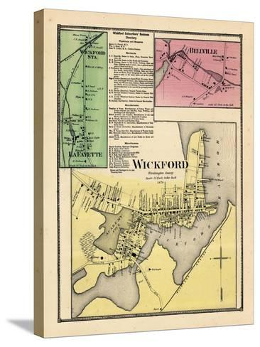 1870, Wickford, Wickford Station, LaFayette, Bellville, Rhode Island, United States--Stretched Canvas Print