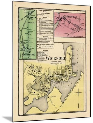 1870, Wickford, Wickford Station, LaFayette, Bellville, Rhode Island, United States--Mounted Giclee Print