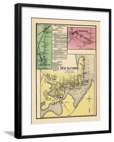 1870, Wickford, Wickford Station, LaFayette, Bellville, Rhode Island, United States--Framed Art Print