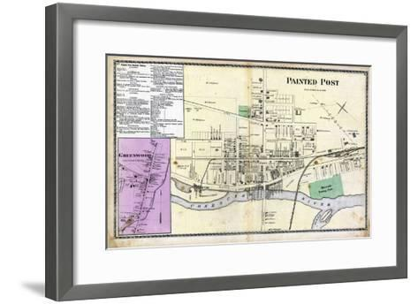 1873, Painted Post, Greenwood, New York, United States--Framed Art Print