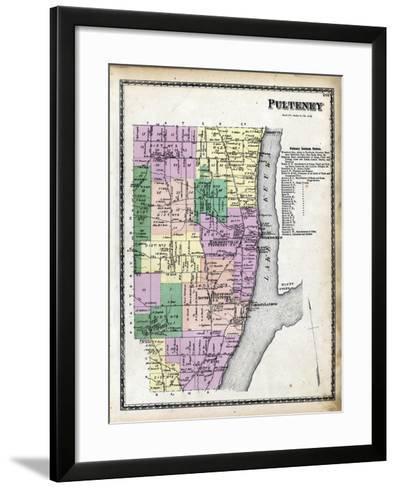 1873, Pulteney, New York, United States--Framed Art Print