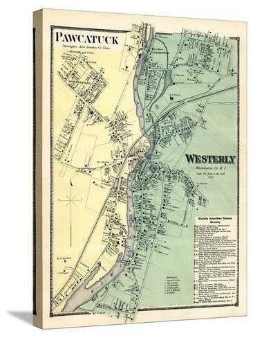 1870, Powcatuck, Westerly 2, Rhode Island, United States--Stretched Canvas Print