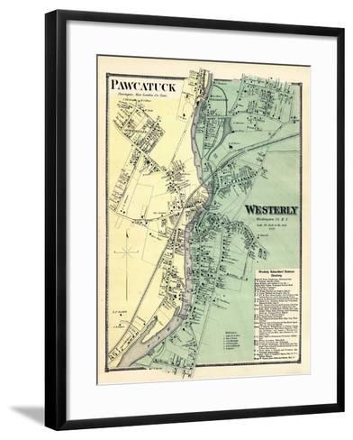 1870, Powcatuck, Westerly 2, Rhode Island, United States--Framed Art Print