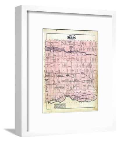 1882, Sebec Town, Maine, United States--Framed Art Print