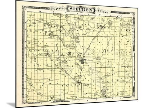 1876, Steuben County, Indiana, United States--Mounted Giclee Print