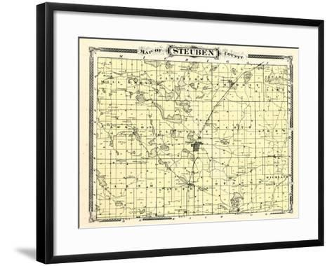 1876, Steuben County, Indiana, United States--Framed Art Print