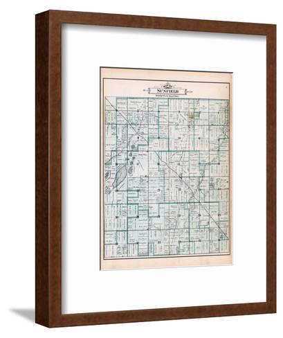1895, Sunfield Township, Sobby Lake, Round Lake, Saddleback Lake, Tamerack Lake, Michigan, United S--Framed Art Print