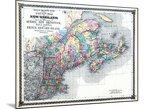 1875, New England and the Provinces of Quebec, New Brunswick, Nova Scotia, and Prince Edward Island--Mounted Giclee Print