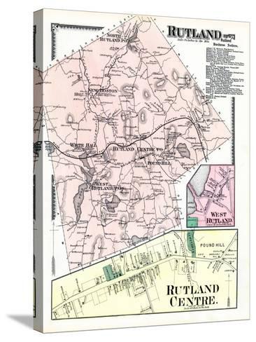 1870, Rutland, Rutland Center, Rutland West, West Rutland, Massachusetts, United States--Stretched Canvas Print