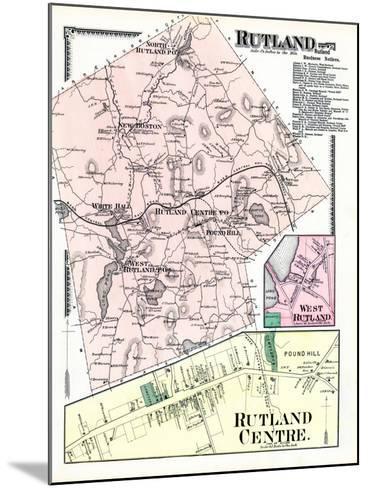 1870, Rutland, Rutland Center, Rutland West, West Rutland, Massachusetts, United States--Mounted Giclee Print