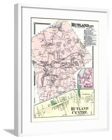 1870, Rutland, Rutland Center, Rutland West, West Rutland, Massachusetts, United States--Framed Art Print