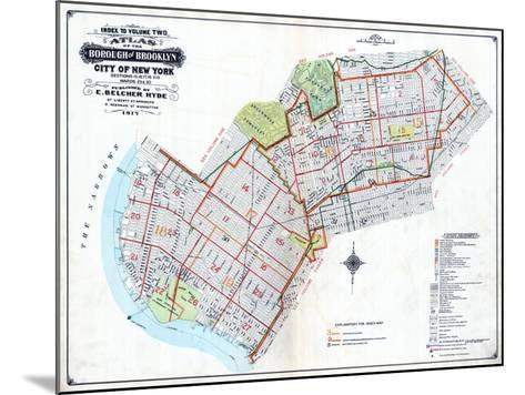 Brooklyn Map--Mounted Giclee Print