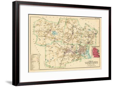 1898, Clinton - Berlin - Bolton - Harvard - Lancaster Towns, Massachusetts, United States--Framed Art Print