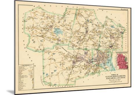 1898, Clinton - Berlin - Bolton - Harvard - Lancaster Towns, Massachusetts, United States--Mounted Giclee Print