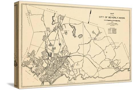 1932, Beverly City Map, Massachusetts, United States--Stretched Canvas Print