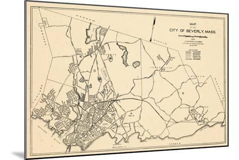 1932, Beverly City Map, Massachusetts, United States--Mounted Giclee Print