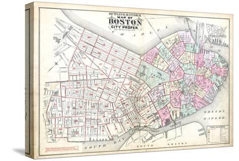 1888, Boston, Massachusetts, United States--Stretched Canvas Print