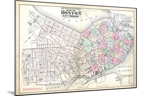 1888, Boston, Massachusetts, United States--Mounted Giclee Print