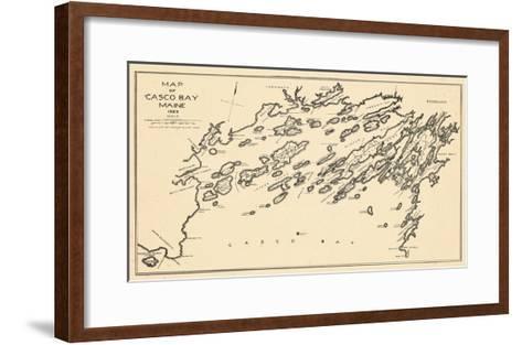 1924, Casco Bay, Maine, United States--Framed Art Print