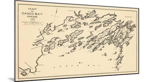 1924, Casco Bay, Maine, United States--Mounted Giclee Print