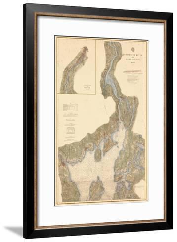 1882, Penobscot River, Belfast Bay Chart 1882, Maine, United States--Framed Art Print