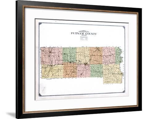 1916, Putnam County Topographical Map, Missouri, United States--Framed Art Print