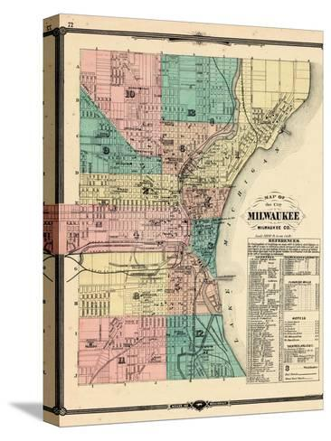 1881, Milwaukee City, Wisconsin, United States--Stretched Canvas Print