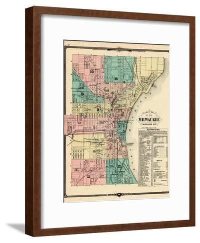 1881, Milwaukee City, Wisconsin, United States--Framed Art Print