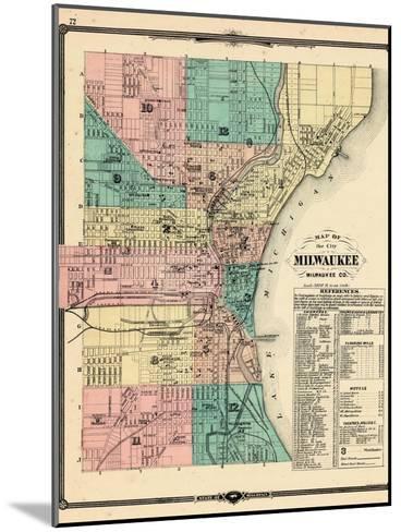 1881, Milwaukee City, Wisconsin, United States--Mounted Giclee Print