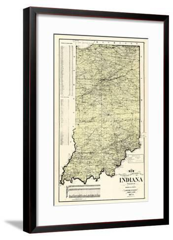 1874, State Map, Indiana, United States--Framed Art Print