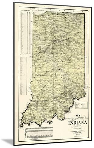 1874, State Map, Indiana, United States--Mounted Giclee Print