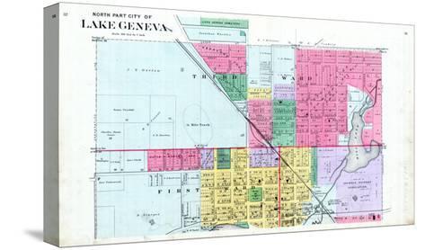 1891, Lake Geneva City - North, Wisconsin, United States--Stretched Canvas Print