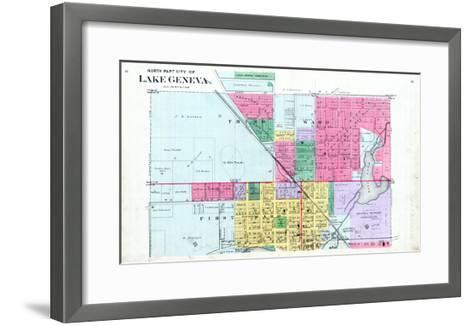 1891, Lake Geneva City - North, Wisconsin, United States--Framed Art Print